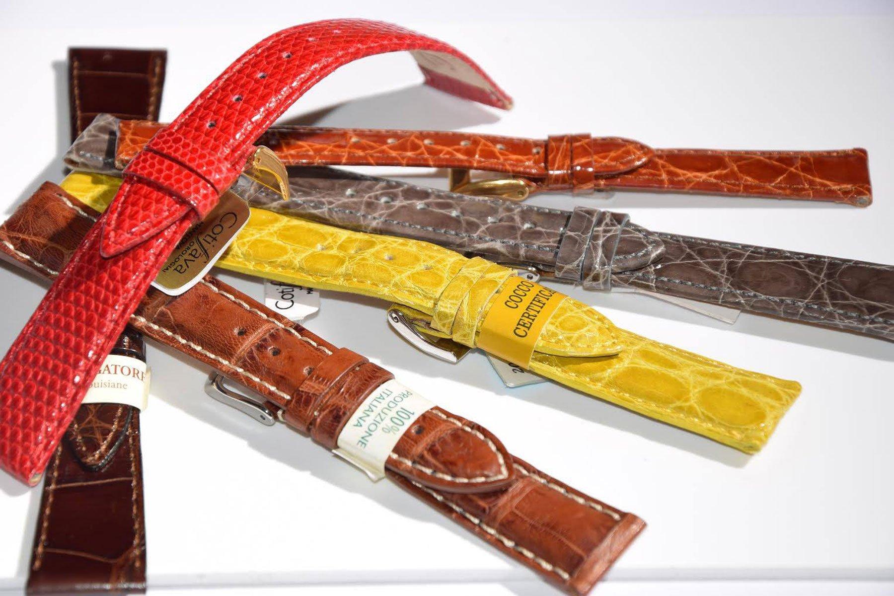 Cinturini per orologio da polso in pelle multicolore