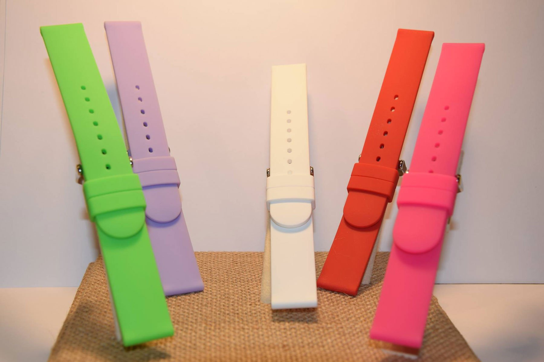 Cinturini per orologio da polso in plastica multicolore