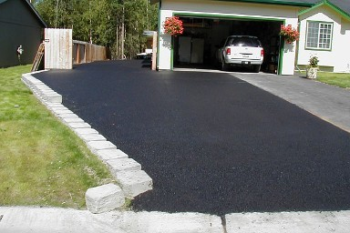 Example of a driveway in Wasilla, AK