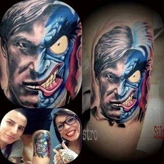 Tatuaggio personaggio Marvel