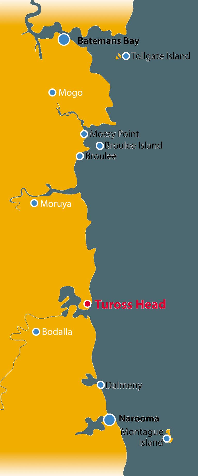 Tuross Head NSW Coastal Map