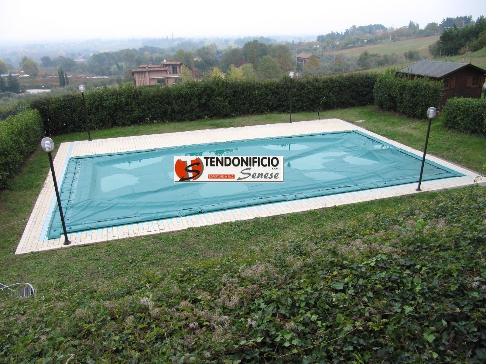 Teli di copertura per piscina monteroni d 39 arbia tendonificio senese - Saldatura telo pvc piscina ...