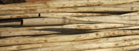Travi in legno grezzo
