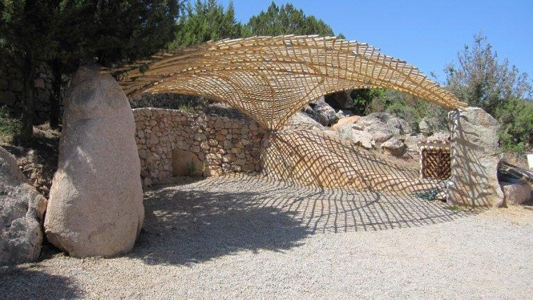 Campo lungo di copertura in legno per esterno
