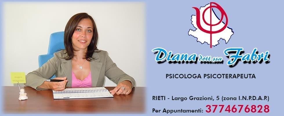 psicoterapeuta RIeti, Fabri dott.ssa Diana, Rieti