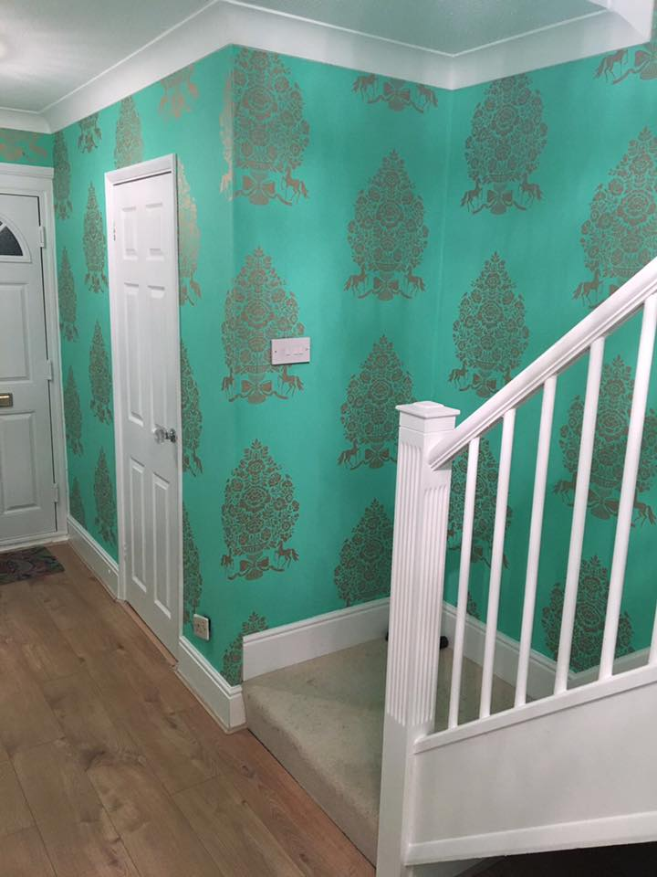 sea green coloured wall papers