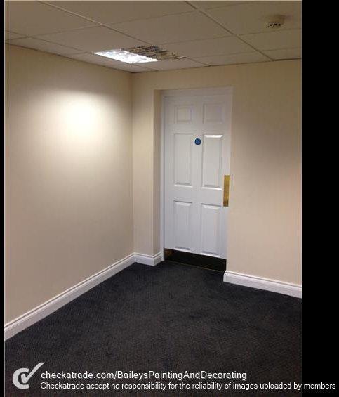 a closed white door