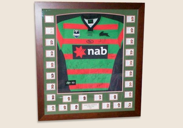 sporting memorabilia framing in rochedale