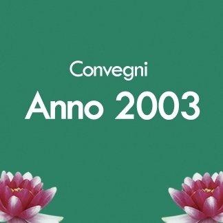 convegni anno 2003