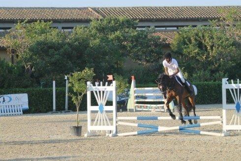 Percorso a ostacoli con un cavallo