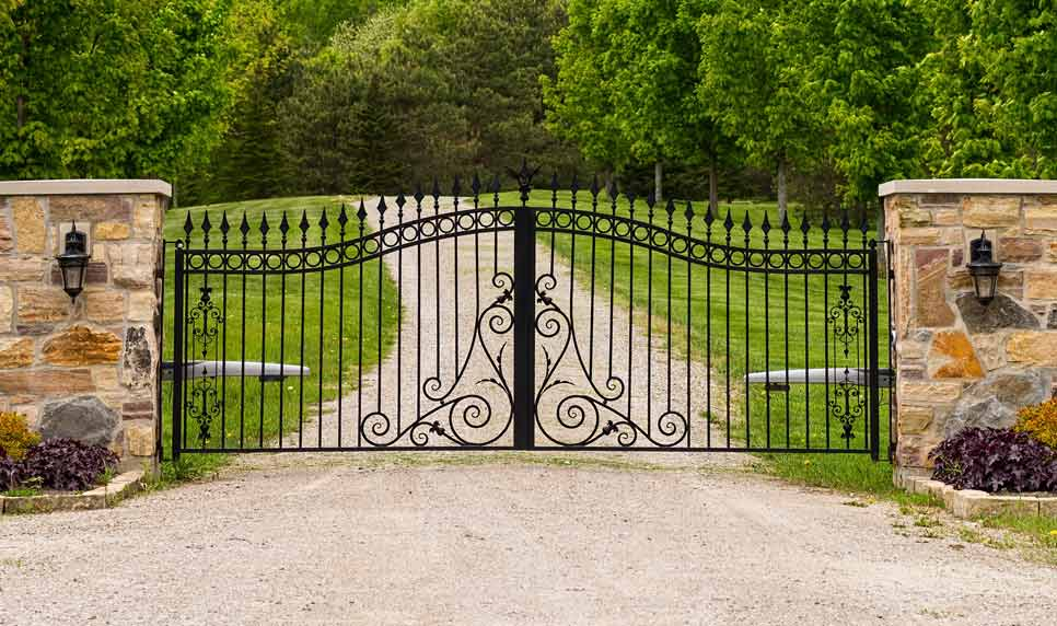 kelmac fencing and gates double wrought iron gate
