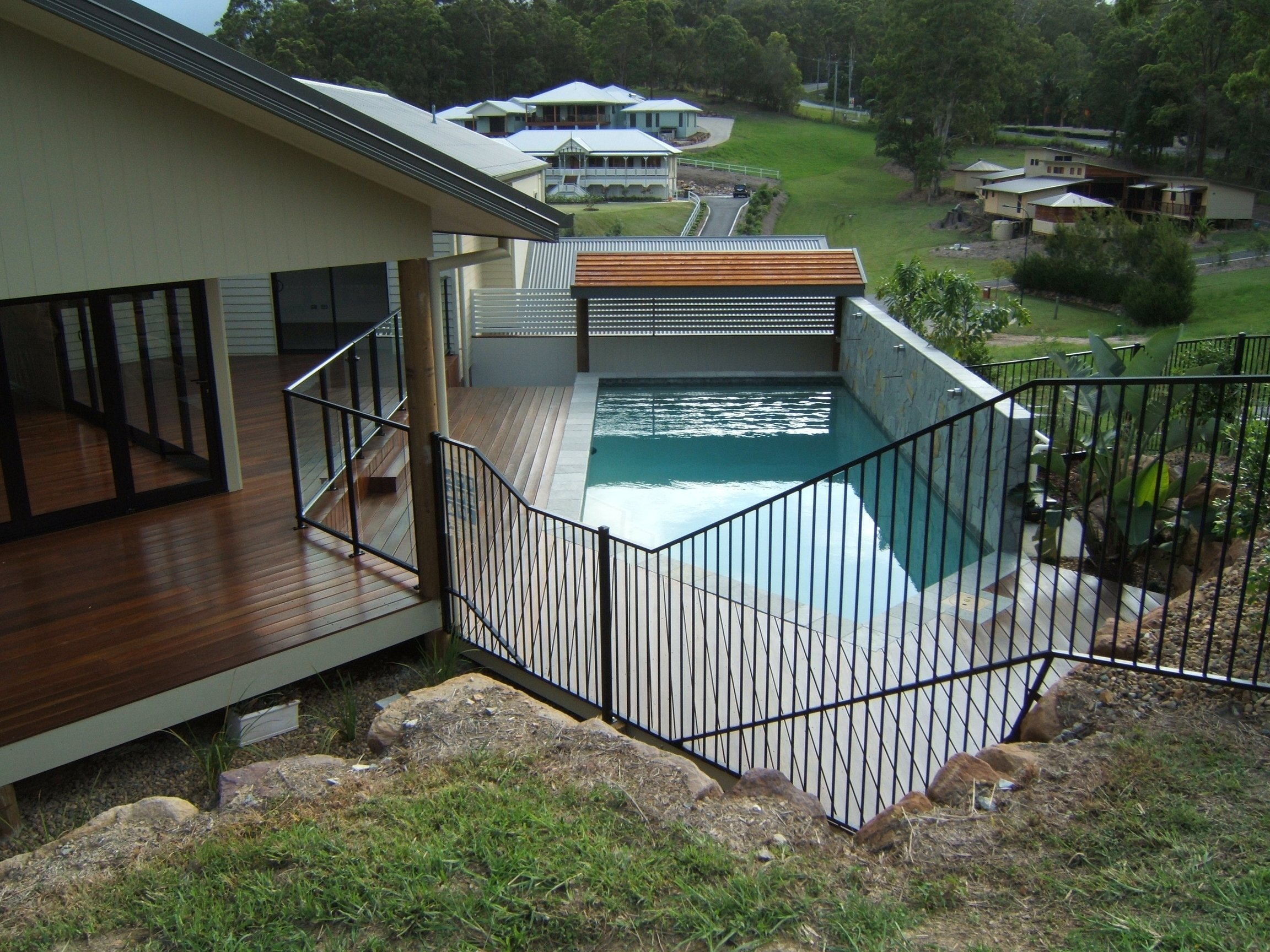 kelmac fencing and gates pool with fence railing