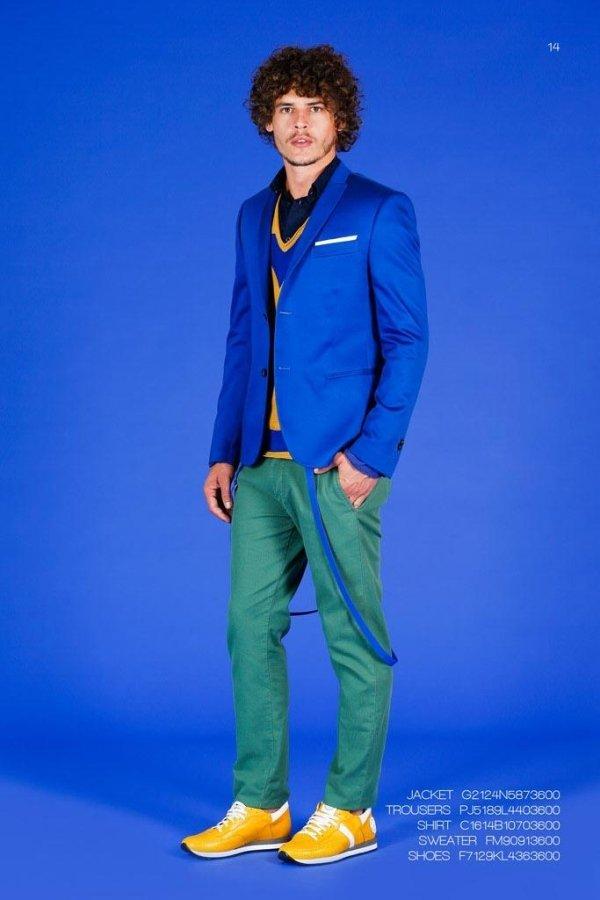 abito uomo colorato