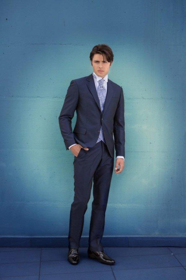 vestito blu Mattiolo