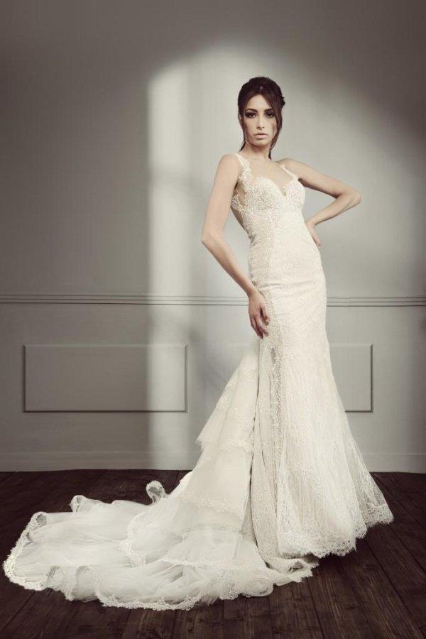 vestito spalline sposa
