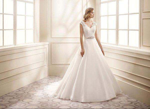 abito sposa organza