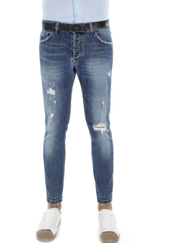 Jeans con risvoltini