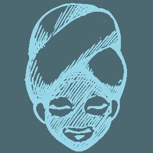 Disegno di una maschera di bellezza