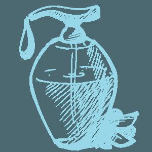Disegno di una bottiglietta di profumo