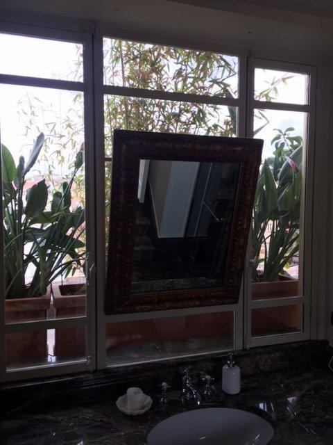 Cornice specchio in vetro