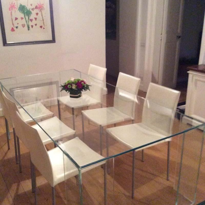 tavolo in cristallo temprato