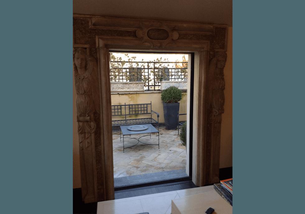 recinzione in ferro zincato verniciato