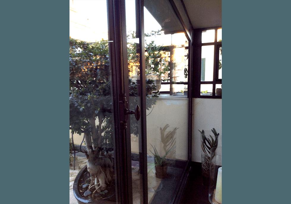 vetrata in ferro zincato verniciato