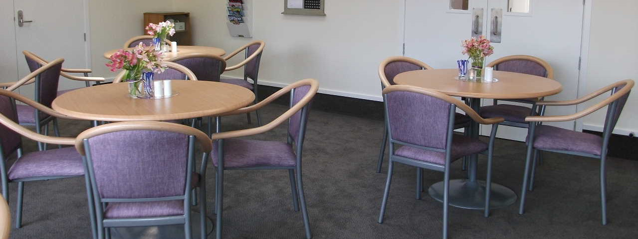View of round table with chair in a room