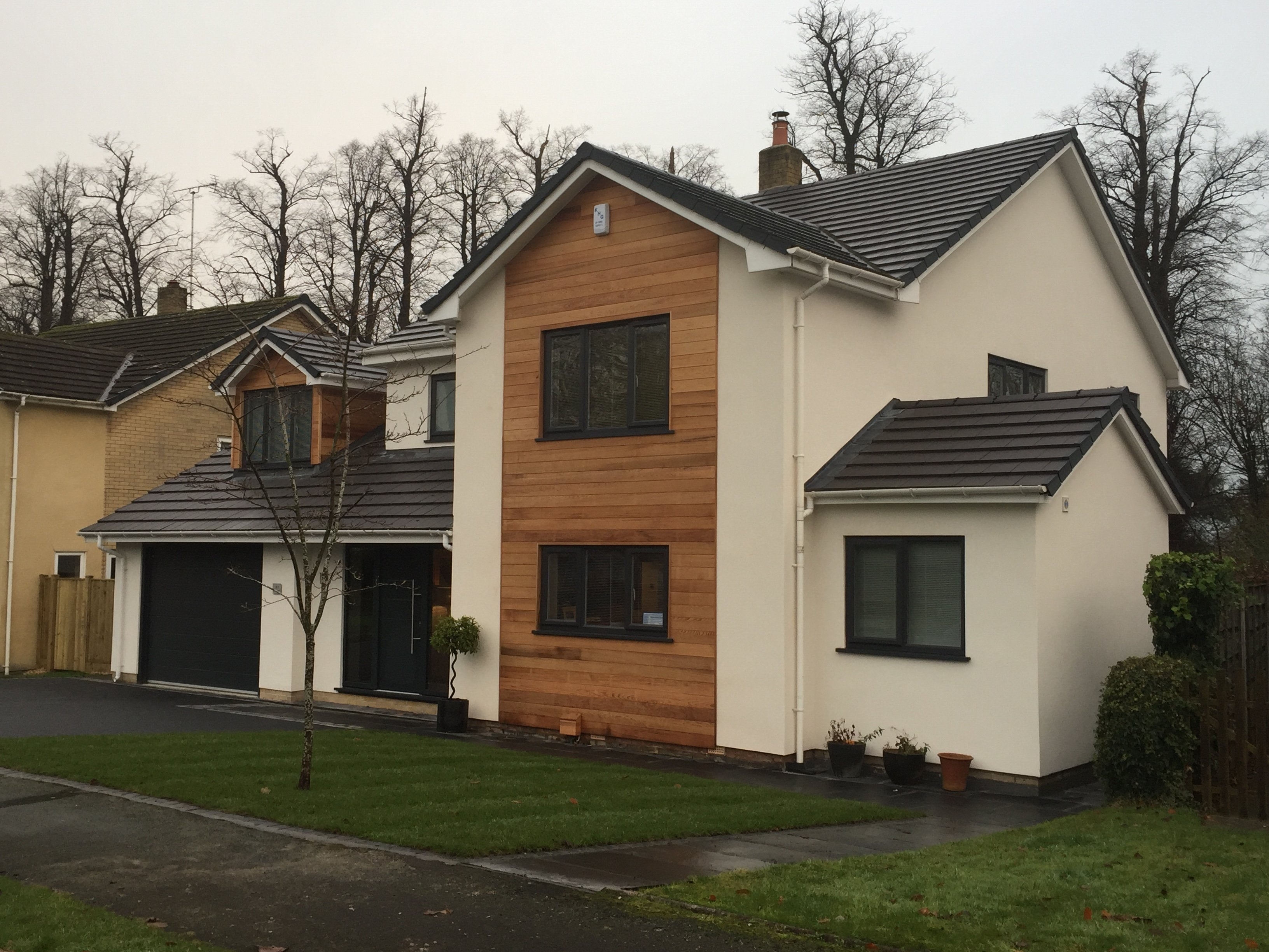 Timber cladding and render in cheshire manchester