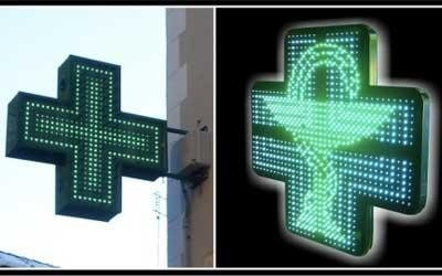 Croix pour Pharmacie : MONOLED
