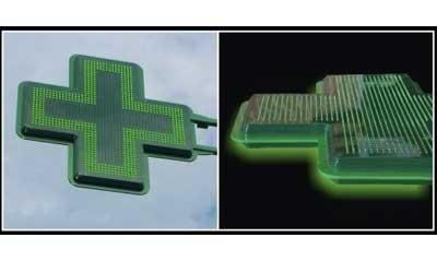 Croix pour Pharmacie : Slim conception 3D