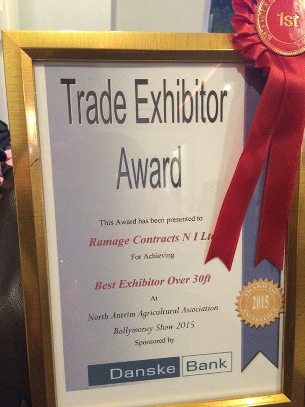 Trade exhibitor award