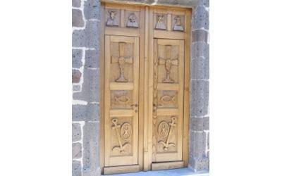 Porte intarsiate legno