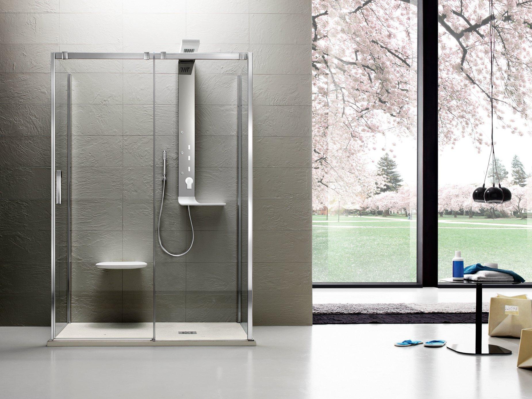 box doccia pavimento parquet rivestimento ceramica piastrelle arredo bagno