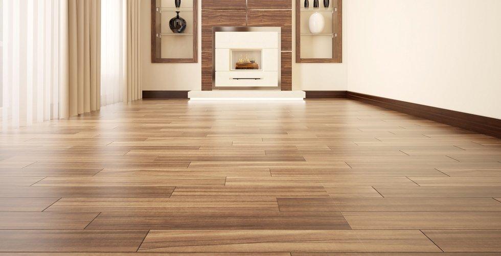 soggiorno moderno con parquet in pavimento