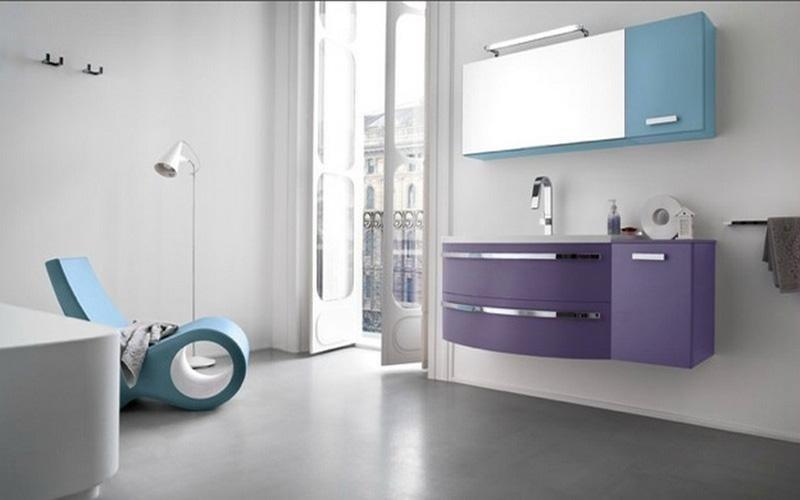 mobile angolare bagno
