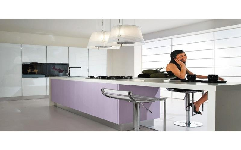 cucina moderna laccata bianco