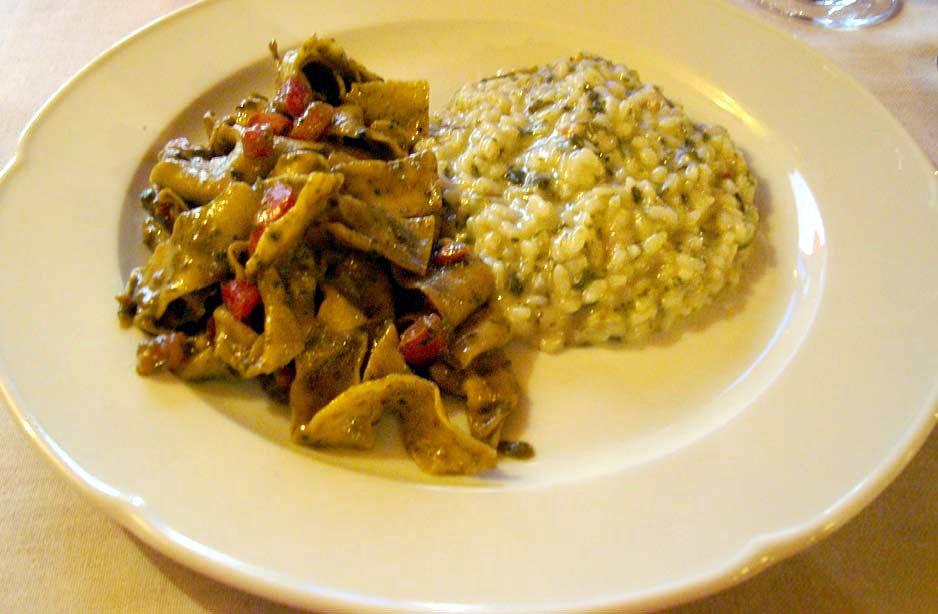 un piatto di risotto