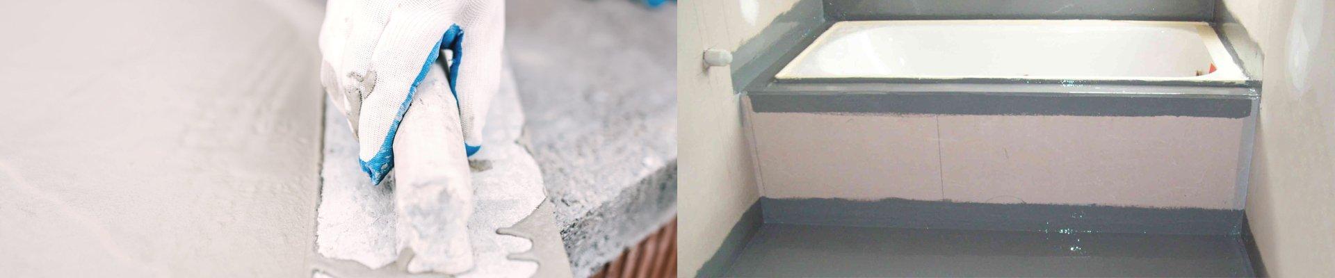 blakes waterproofing man working in bathroom