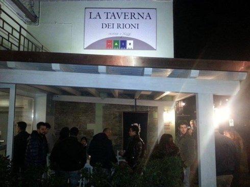 ingresso ristorante La Taverna dei Rioni