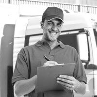 MR Kirby Logistics smiling man with clipboard