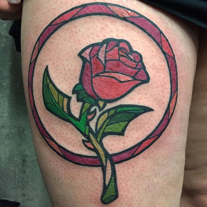 Stained glass image tattoo