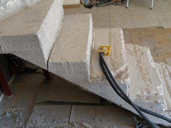 servizio di tagli del cemento