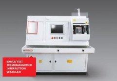 banco test termomagnetico interruttori scatolati