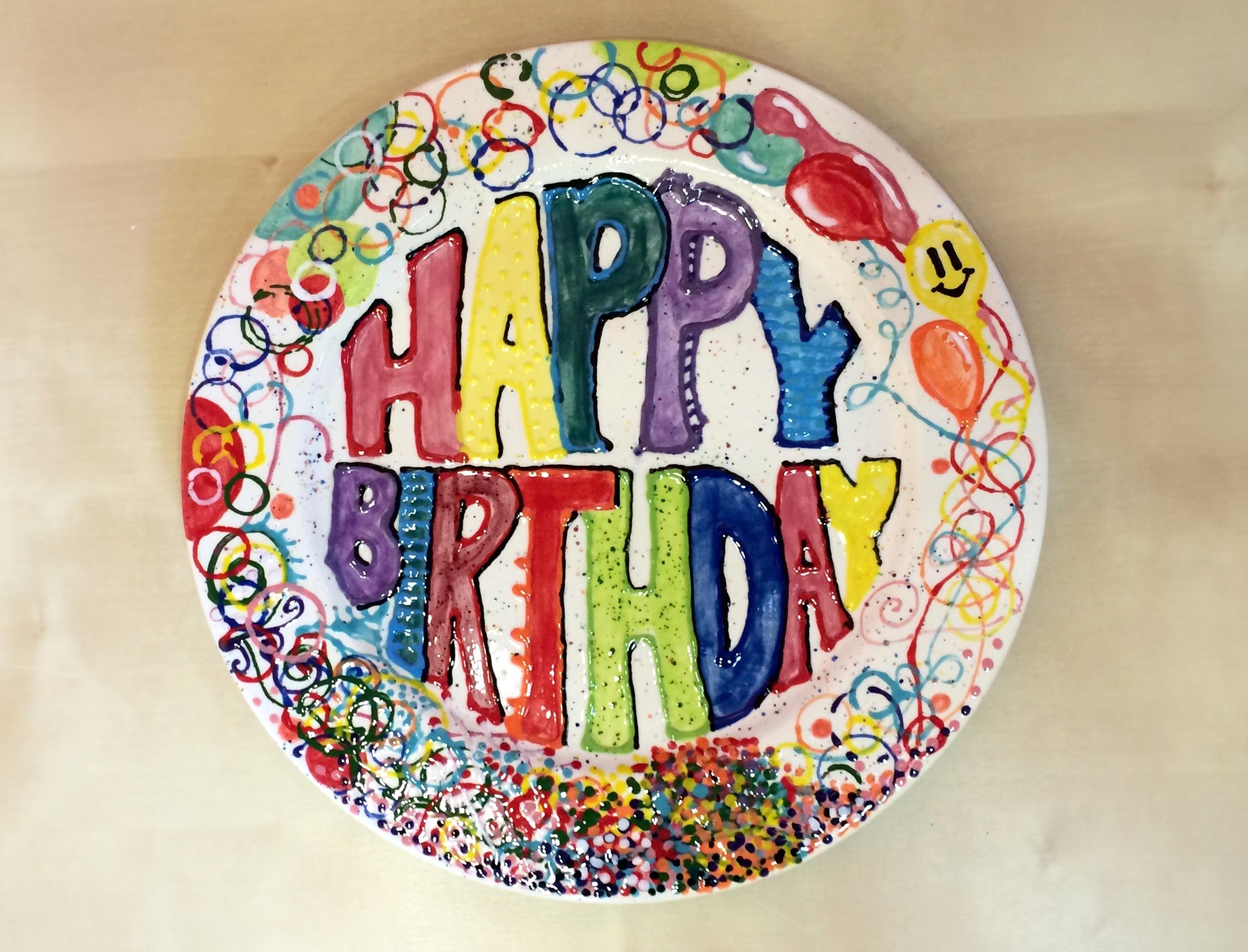 Ceramic Birthday Plate | Creativity Art Studio