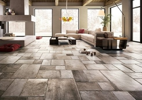 Pavimento in gres porcellanato effetto pietra