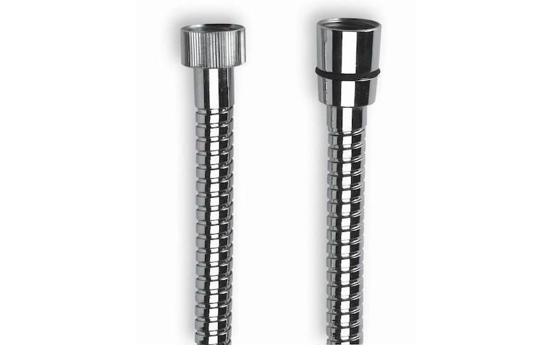 """FX1001 Flessibile inox cm.150 n/ag 1/2"""" cono x 1/2"""" calotta zigrinata"""