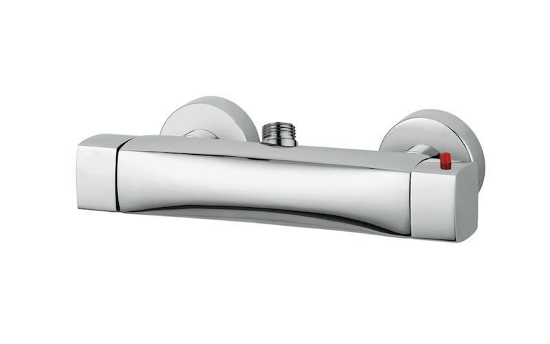 Miscelatore doccia esterno termostatico con attacco superiore
