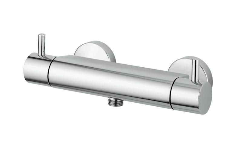 Miscelatore doccia esterno termostatico con attacco inferiore