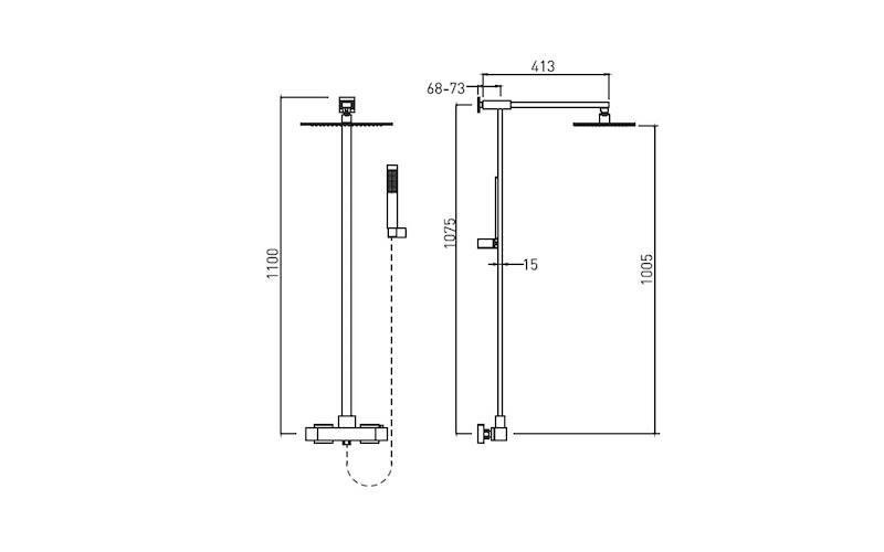 Diagram of shower column